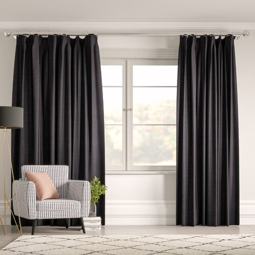 Lina Pencil Pleat Blackout Thermal Curtain Madura Size per P