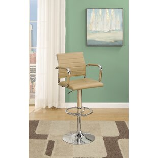 Bobkona Nara Adjustable Height Bar Stool (Set of 2)