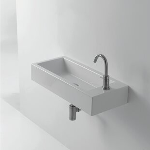Read Reviews Whitestone Hox Ceramic 28 Wall Mount Bathroom Sink ByWS Bath Collections