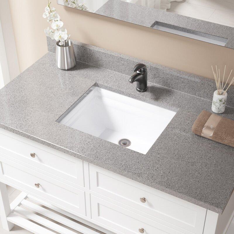 Mrdirect Vitreous China Rectangular Undermount Bathroom Sink With Overflow And Drain Assembly Wayfair