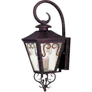 Easton 3-Light Outdoor Wall Lantern by Breakwater Bay