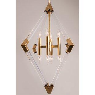 Brickey 8-Light Geometric Pendant by Brayden Studio