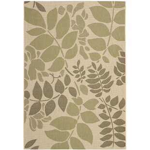 Amaryllis Cream/Green Indoor/Outdoor Rug