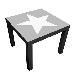Large White Stars Side Table By 17 Stories