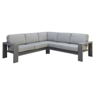 Derwent Patio Sectional with Cushions by Orren Ellis