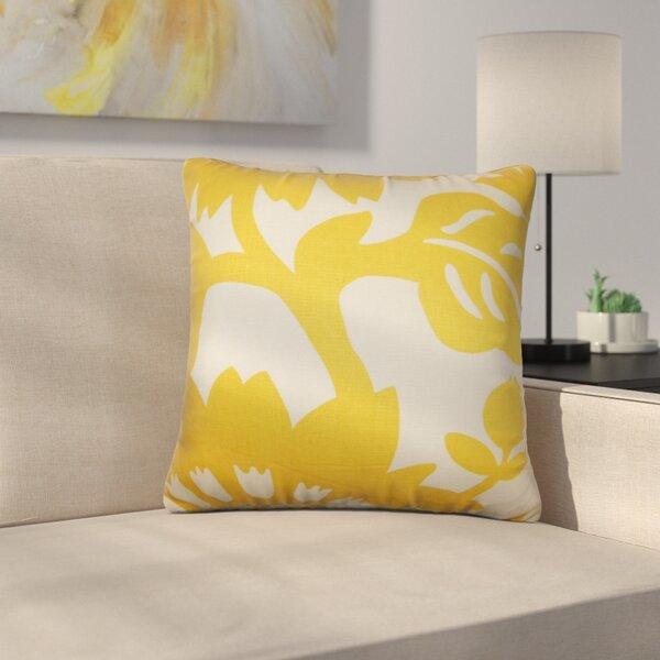 Ebern Designs Pittman Floral Cotton Throw Pillow Cover Reviews Wayfair