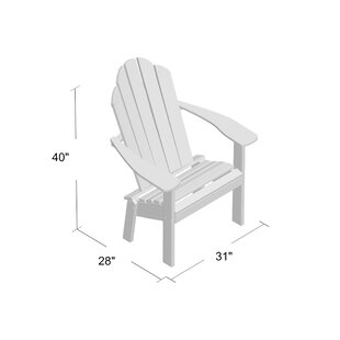 Sawyerville Plastic/Resin Adirondack Chair by Laurel Foundry Modern Farmhouse