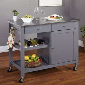 Modern Kitchen Island Cart modern & contemporary kitchen islands & carts you'll love | wayfair