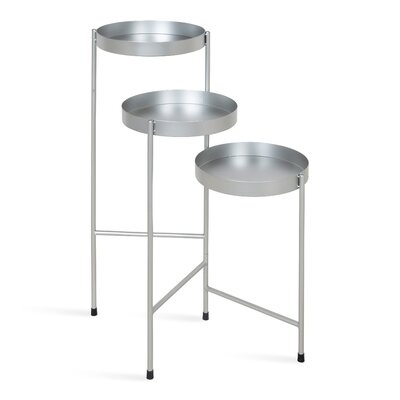 Mercury Row Lofgren Metal Multi-Tiered Plant Stand Color: Silver