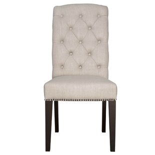 Mcghee Wooden Upholstered Dining Chair (Set of 2) Canora Grey