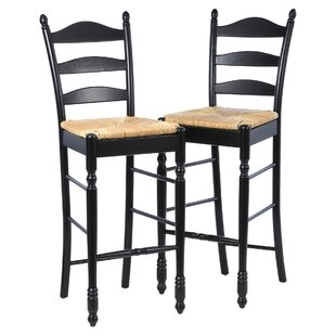 Shirk 30 Ladder Back Bar Stool (Set of 2) Winston Porter