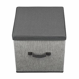 Best Deals Closet Storage Fabric Box with Lid By Rebrilliant