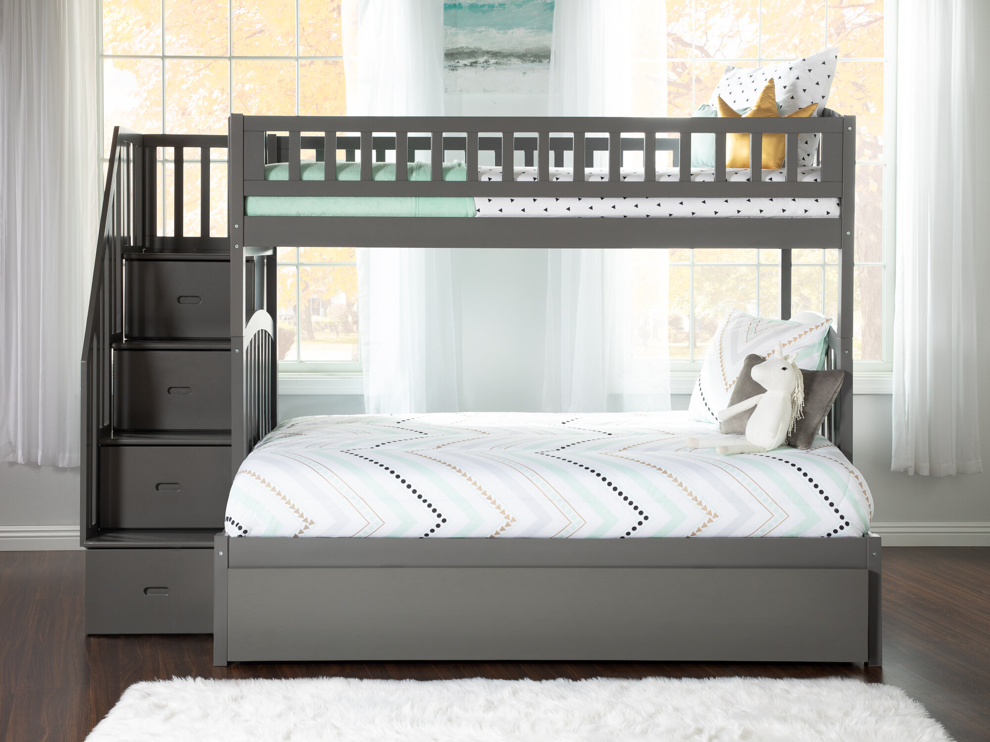 Picture of: Bunk With Stairs Kids Beds You Ll Love In 2020 Wayfair