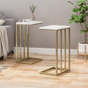 Read Reviews Solis Modern Glam End Table (Set of 2) by Mercer41