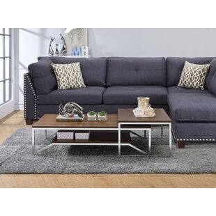 Cadwell 2 Piece Coffee Table Set by Orren Ellis