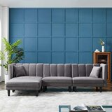 Heim 56'' Wide Velvet Reversible Sleeper Sofa & Chaise by George Oliver