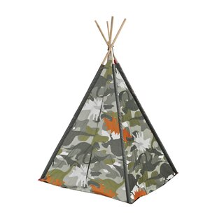 Dino Camo Kid Play Teepee with Carrying Bag by Heritage Kids