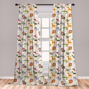 96 Inch Wildlife Curtains D