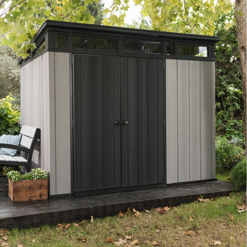 Keter Artisan 9 Ft W X 7 5 Ft D Plastic Storage Shed