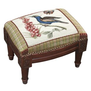 Check Prices Sunbird Wool Needlepoint Upholstered Ottoman By123 Creations