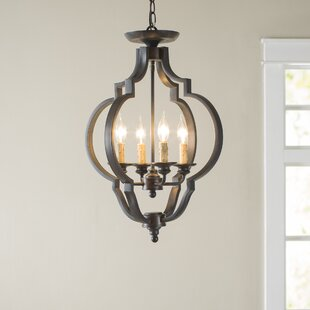 Jamesburg 4 Light Semi Flush Mount by Birch Lane? Heritage
