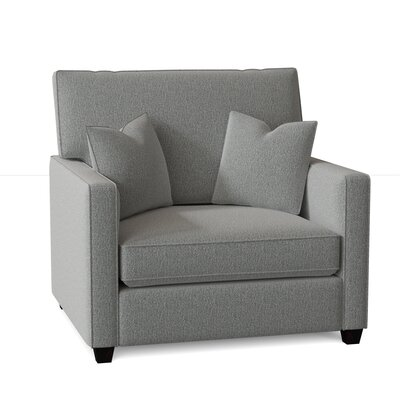 Lokki Armchair Latitude Run Body Fabric: Sugarshack Mist, Throw Pillow Fabric: Spectrum Sesame, Mattress Type: Innerspring Mattress