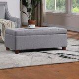 Izabela Upholstered Flip Top Storage Bench by Red Barrel Studio®