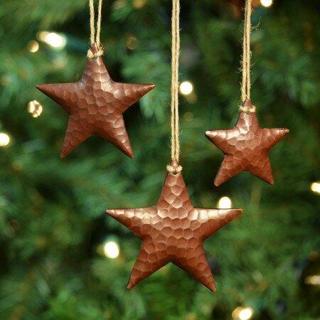 Copper Christmas Ornaments.Copper Star Ornament