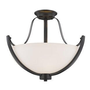 Whelan 3-Light Semi Flush Mount by Winston Porter