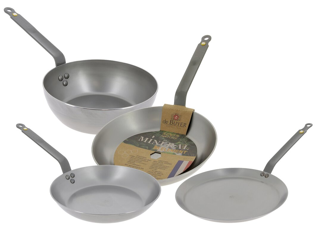 de Buyer Mineral B Element 4-Piece Frying pan Set & Reviews ...