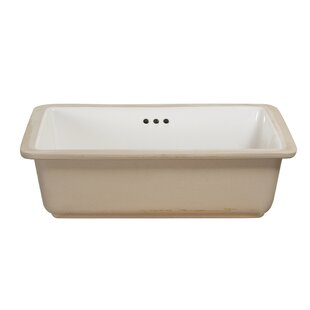 Hazelwood Home Vitreous China Rectangular Undermount Bathroom Sink with Overflow