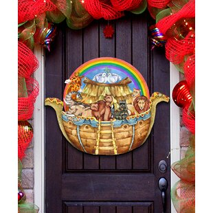 Old World Noah's Arc Holiday Door/Wall Hanger Sign by Designocracy