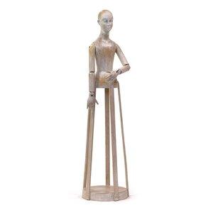 Brown Wood Madame Statue