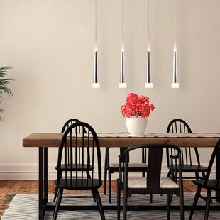 Wadley 4-Light LED Cluster Pendant by Orren Ellis