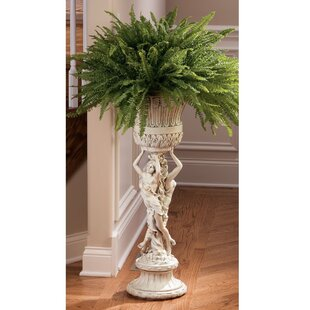 Neoclassical Les Filles Joyeuses Round Pedestal Plant Stand