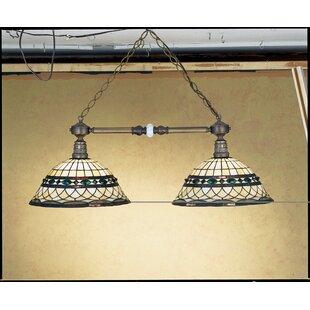 Victorian Tiffany Roman 2-Light Pool Table Light by Meyda Tiffany