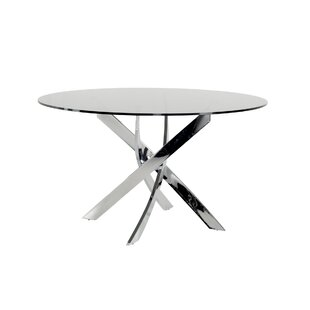Camron Modern Tempered Glass Top Dining Table