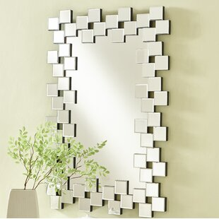 Latitude Run Wheless Contemporary Rectangle Accent Mirror