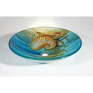 Glass Circular Vessel Bathroom Sink