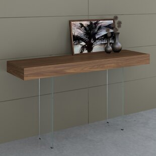Mcduffy Console Table with Tempered Glass By Mercury Row
