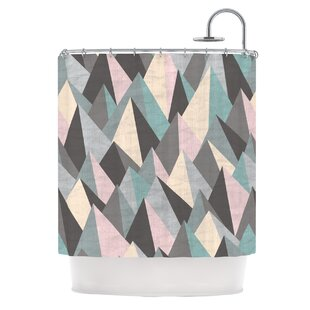Mountain Peaks III by Michelle Drew Pastel Geometric Single Shower Curtain