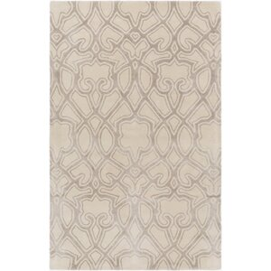 Lennox Hand-Tufted Ivory/Light Gray Area Rug