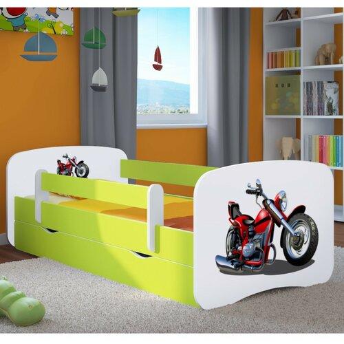 Funktionsbett Celestin mit Matratze und Schublade | Schlafzimmer > Betten > Funktionsbetten | Grün / weiß | Mdf - Holzwerkstoff | Roomie Kidz