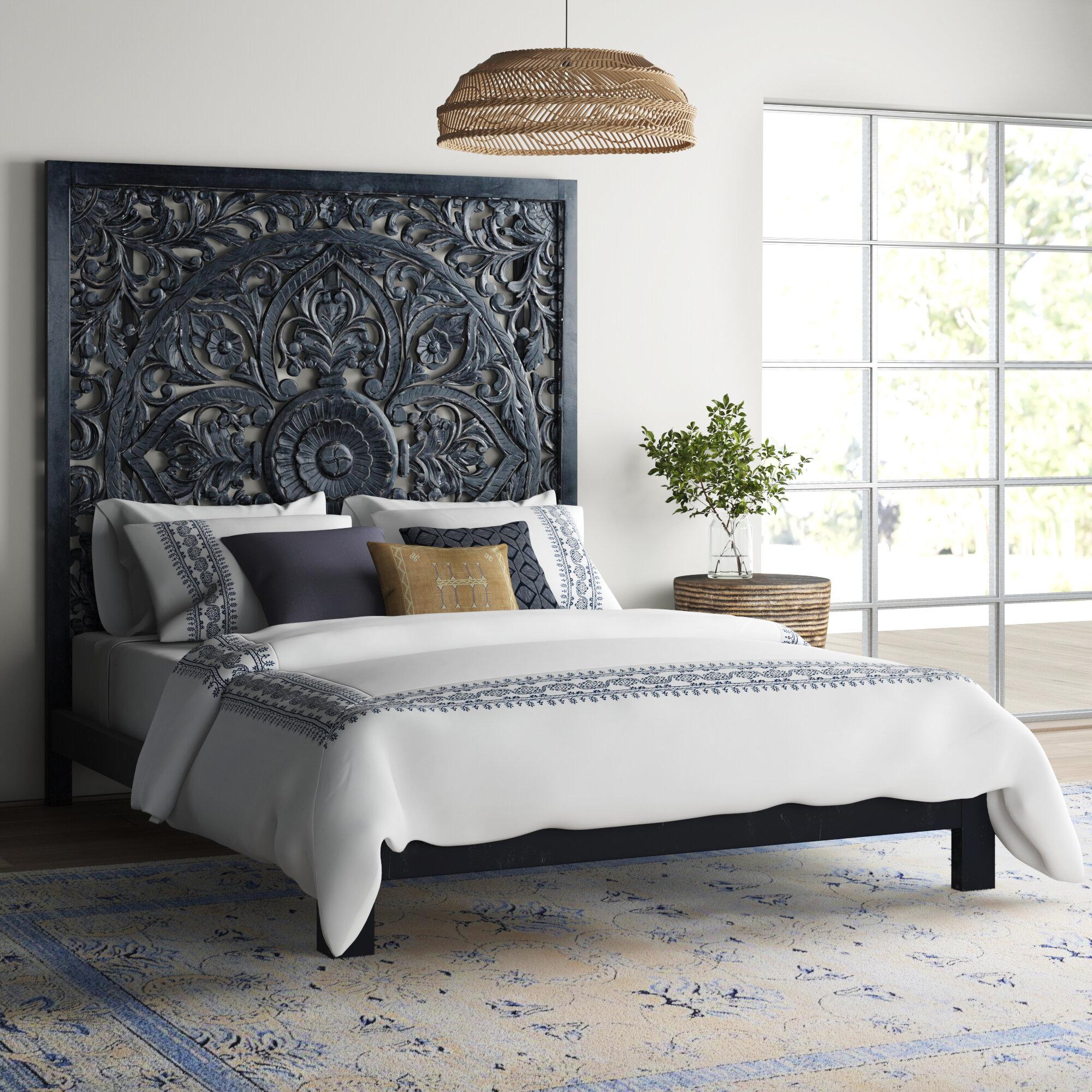 Bungalow Rose Corder Queen Solid Wood Platform Bed Reviews Wayfair