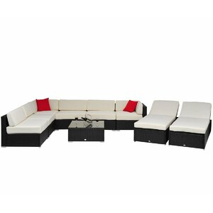 9 Piece Lounge Seating Group with Cushion