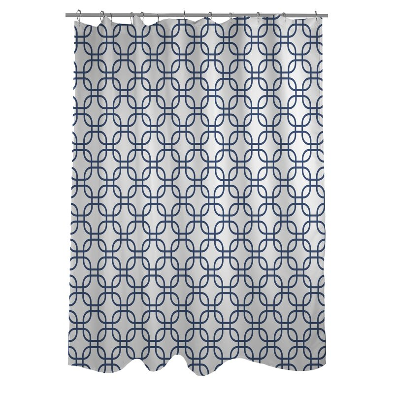 Hisa 1 Geometric Shower Curtain