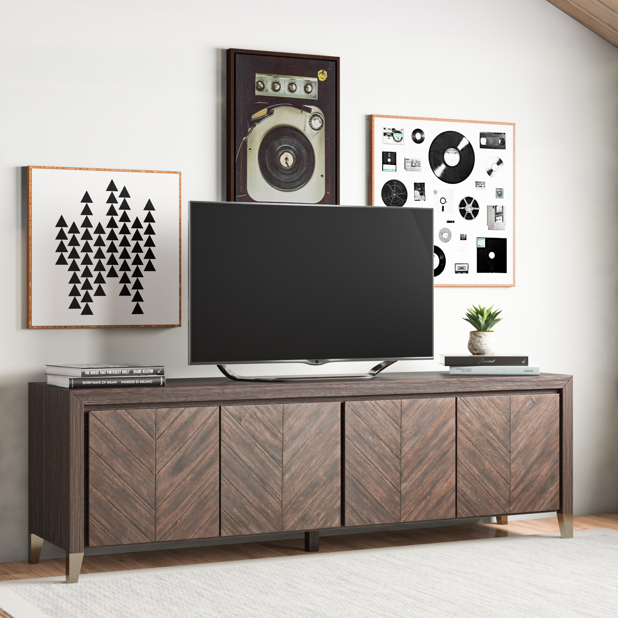 Allmodern Kora Tv Stand For Tvs Up To 88 Wayfair