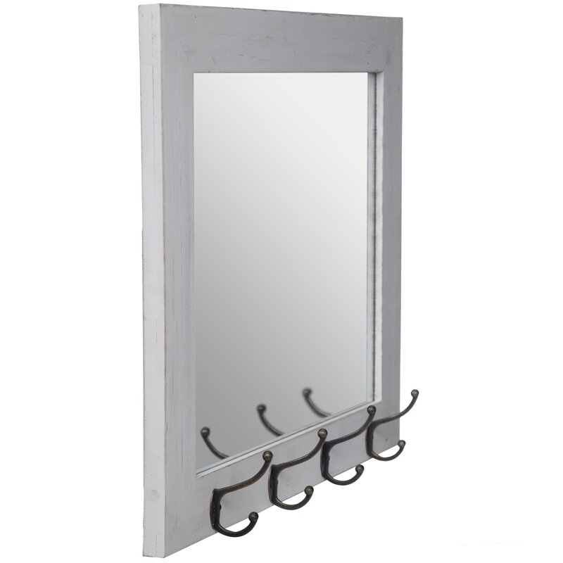Glaucia Rustic Entryway Accent Mirror Reviews Joss Main