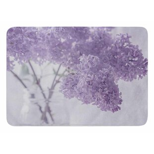 Lilacs by Suzanne Harford Bath Mat