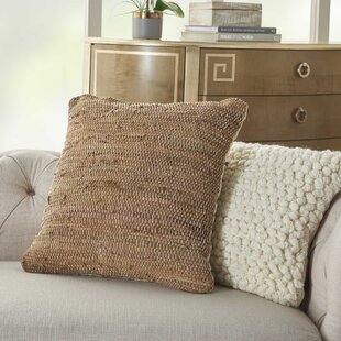 Beau Dark Brown Leather Pillows   Wayfair